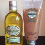 Loccitane Almond Shower Oil and Shower Scrub
