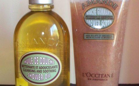 Loccitane Almond Shower Oil and Shower Scrub