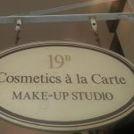 Cosmetics a la carte sign