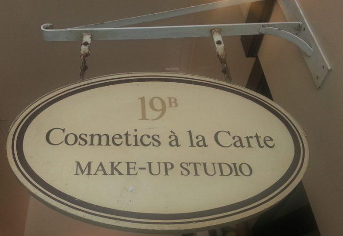 Cosmetics a la carte sign