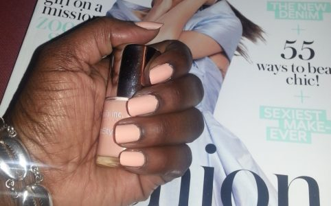 Nails Inc You're a peach Swatch Dark Skin
