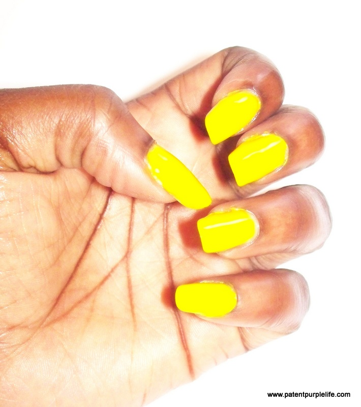 Electric Yellow Maybelline PatentPurpleLife