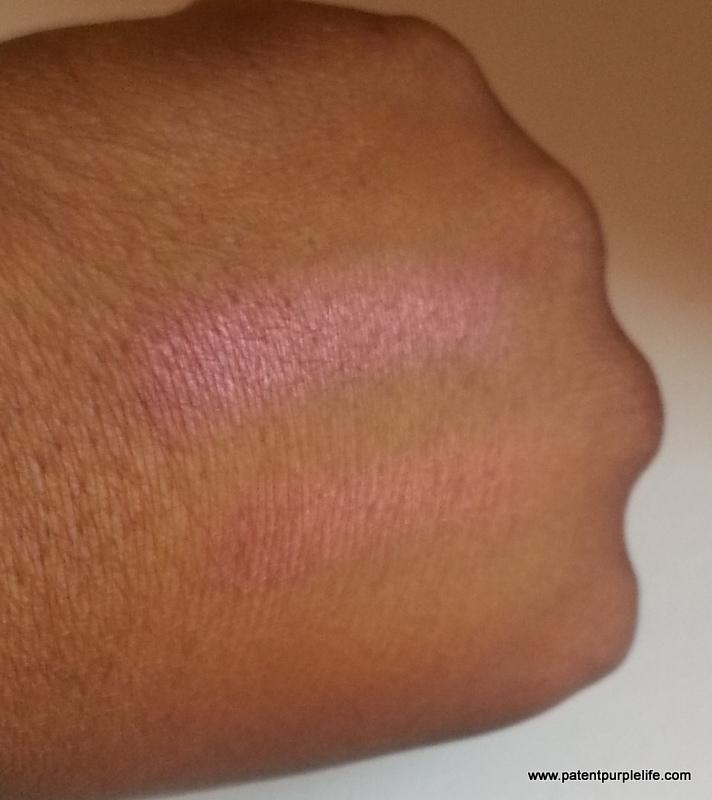 PatentPurpleLife Guerlain Red Hot Blush Swatch