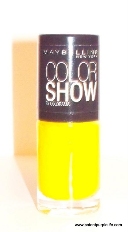 PatentPurpleLife Maybelline Electric Yellow