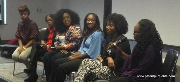 Panel in full swing (photo courtesy of @MeritePR)