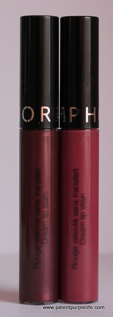 Sephora Lip Creams Dark Berry and Endless Purple