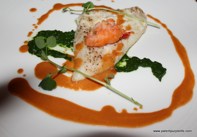 COURSE FIVE (A): Steamed Fillet of South Coast Turbot, Native Lobster & Ginger Bisque, Spinach Puree