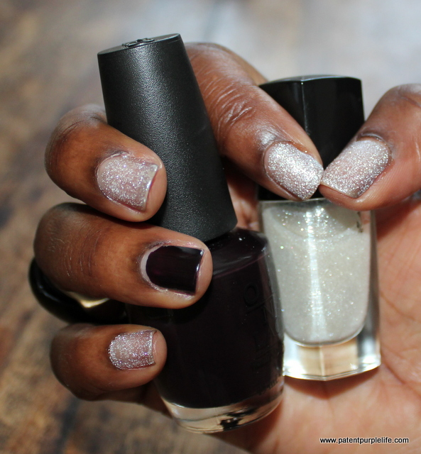 Lancome Etincelle de Neige and OPI Lincoln Park After Dark