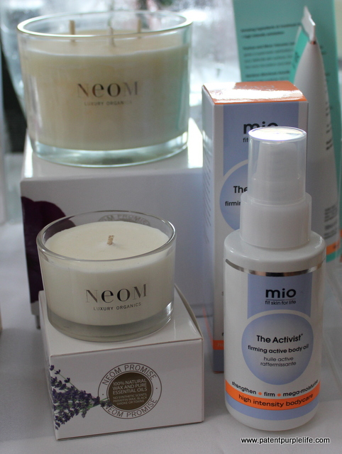 Neom Candles and Mio Skincare