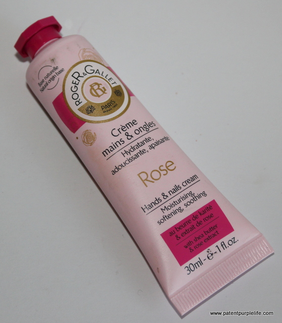 Roger and Gallet rose handcream