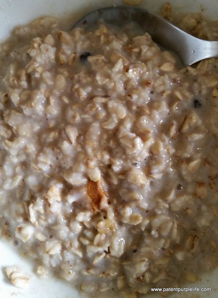 Perkir cooked gingerbread porridge