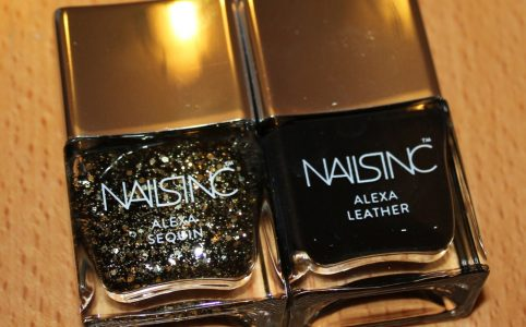 Nails Inc Alexa Chung Sequin and Leather