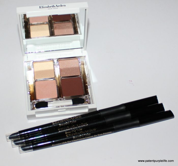 Elizabeth Arden Beautiful Color Chic Brown Eyeshadow Quad and Precision Glide Eyeliners Patent Purple Giveaway
