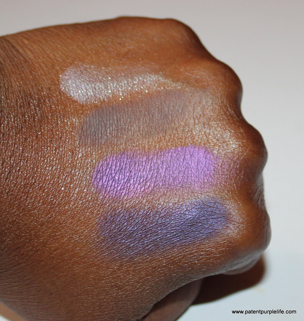 Elizabeth Arden Beautiful Colour Eyeshadow Quad Posh Purple Swatch