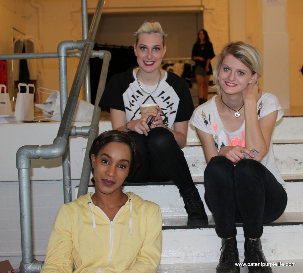 Backstage with the models at HODC Walkoff #LFW