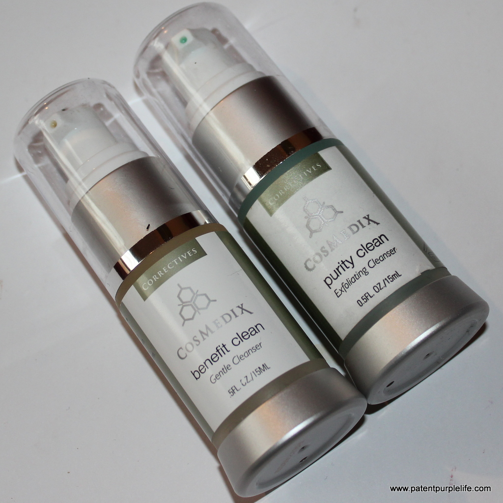 Cosmedix Benefit Clean and Purity Clean cleansers