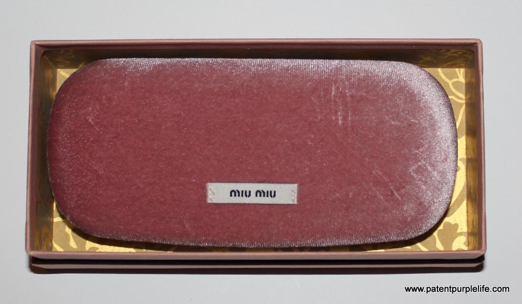 Miu Miu spectacles case