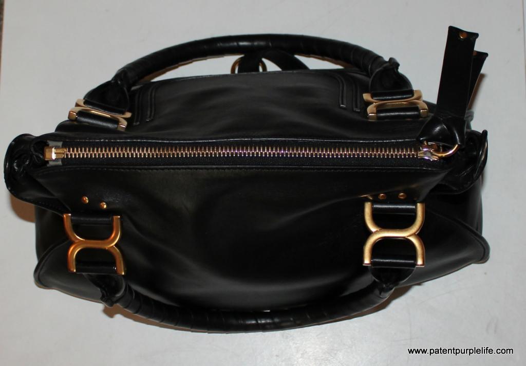 Chloe Marcie Black Handbag Zip Detail