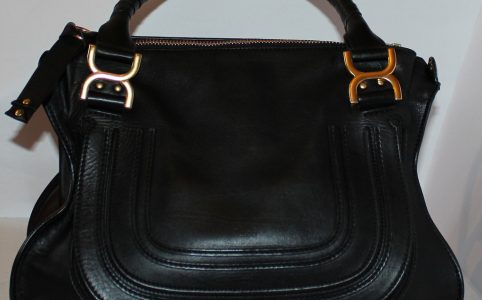 Marcie Black calfskin leather