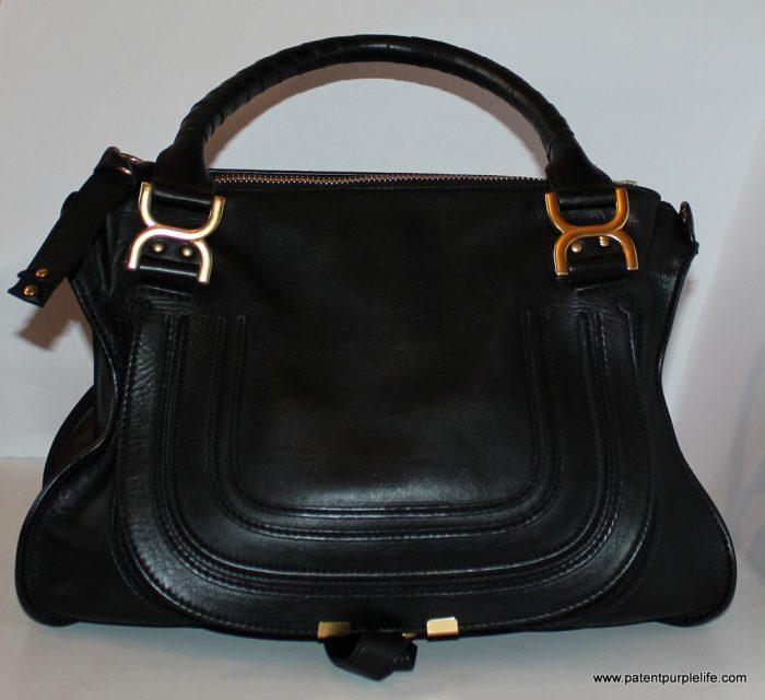 Marcie Black calfskin leather