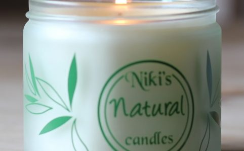 Niki's Rose and Lavender Candle Soy Handmade Candle