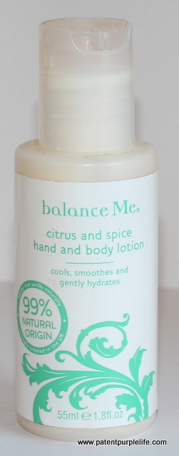 Balance Me Citrus and Spice Hand and Body Lotion