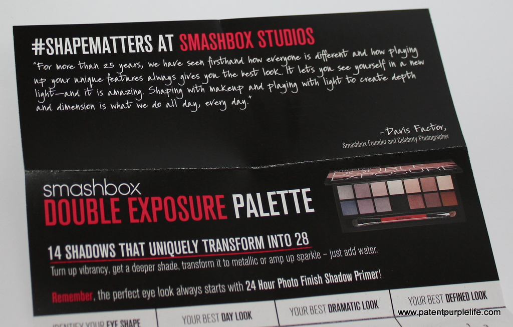 Smashbox Double Exposure #SHAPEMATTERS