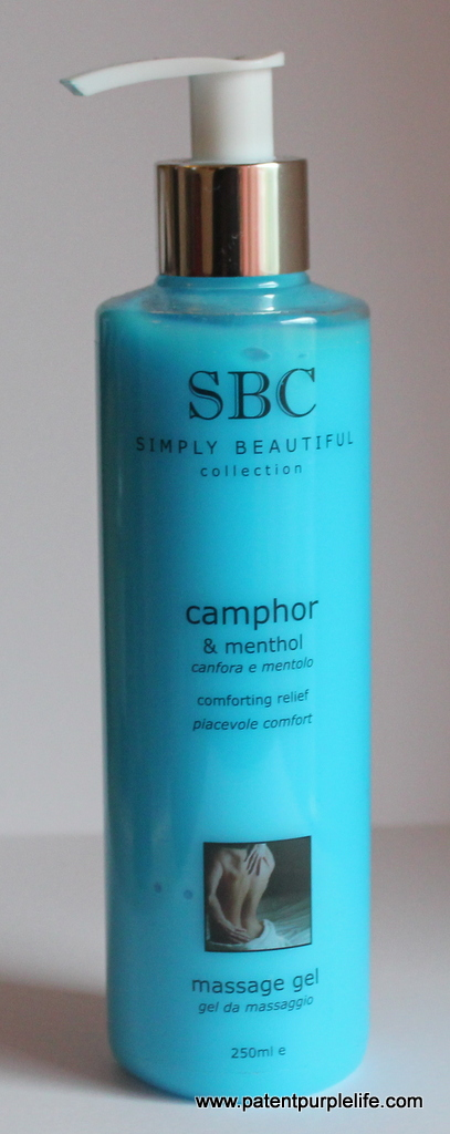 SBC Camphor and Menthol Massage Gel