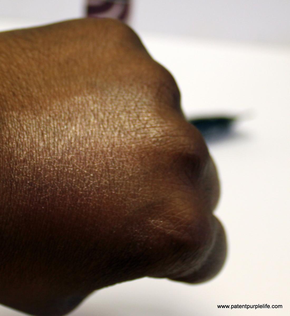 Ciate Cooling Eyeshadow Slick Daquiri Dark Skin Swatch