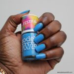Models Own Blue Skies Swatch Dark Skin