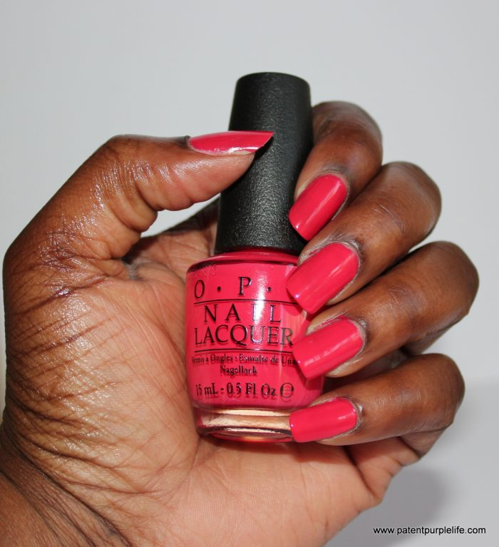 OPI Cajan Shrimp Dark Skin Swatch