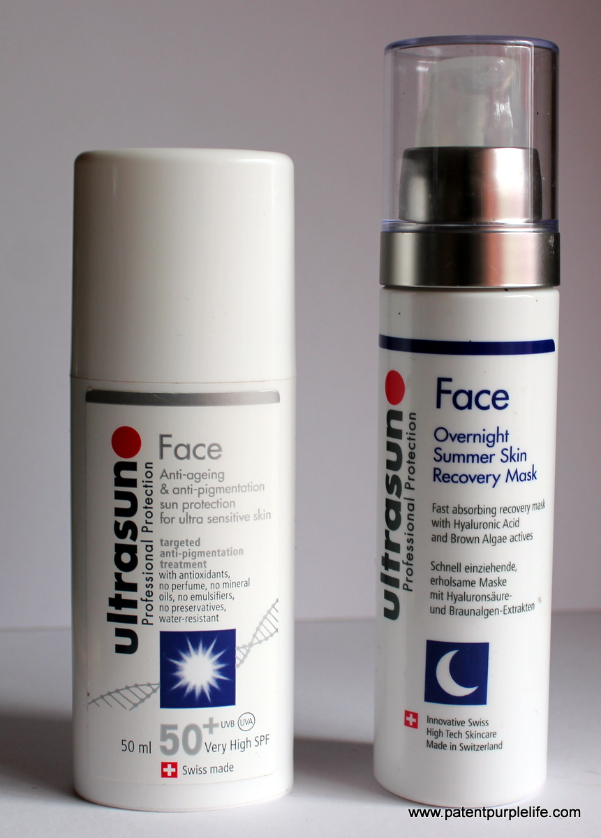 Ultrasun Factor 50 and Overnnight Recovery Mask