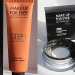 MUFE HD Powder and Step 1 Skin Equaliser Caramel