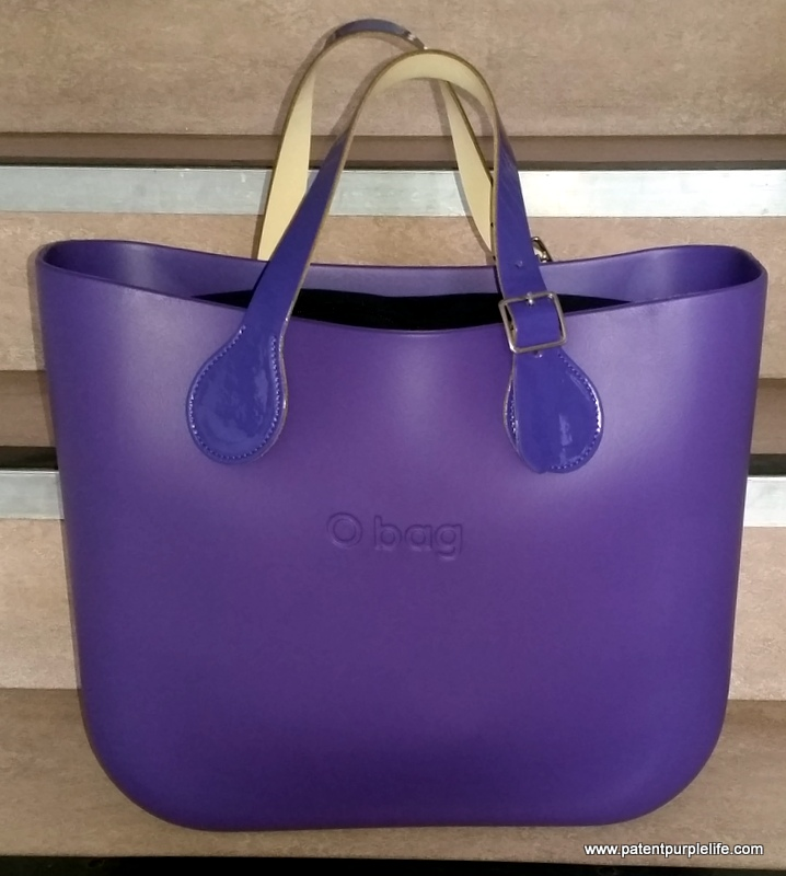 Purple O Bag with Patent Purple Handles