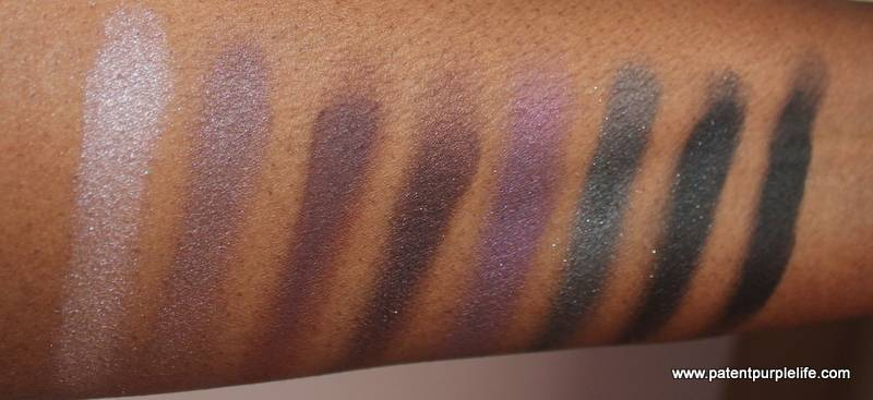 Me Me Me Ultimate eye Palette Rich Plum WoC Swatches