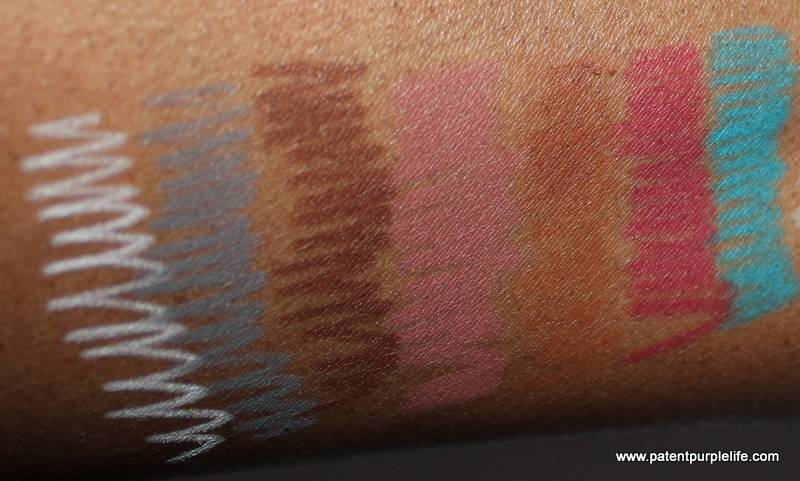 Illamasqua Pencils old style swatches