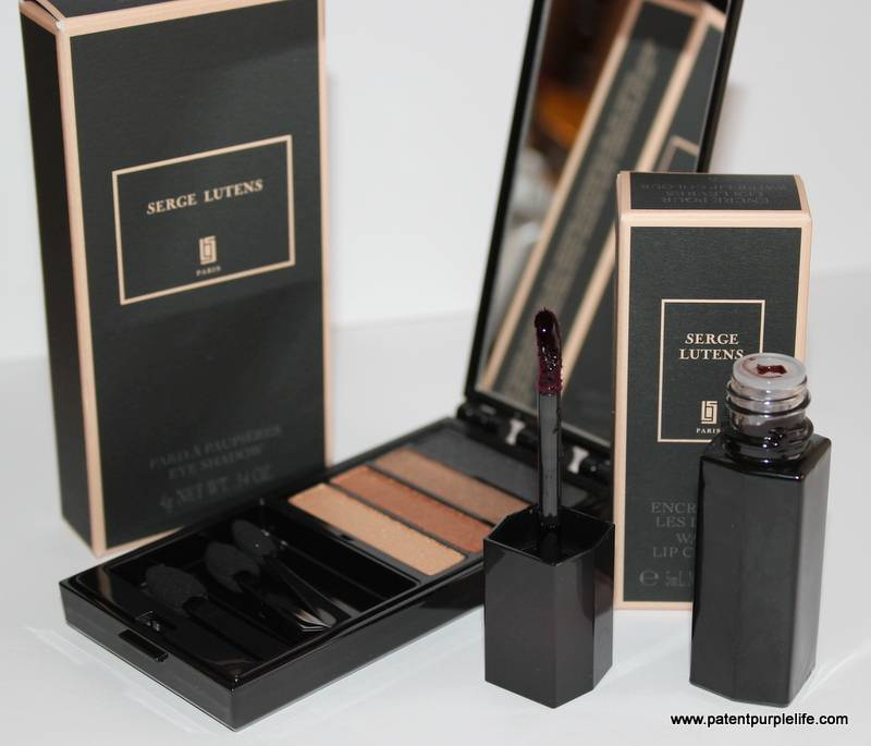 Serge Lutens Cosmetics Eyeshadow Quad and Water Colour