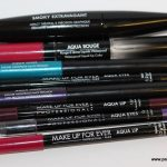MUFE Aqua Lip Aqua Eye Aqua Rouge and Aqua Liner