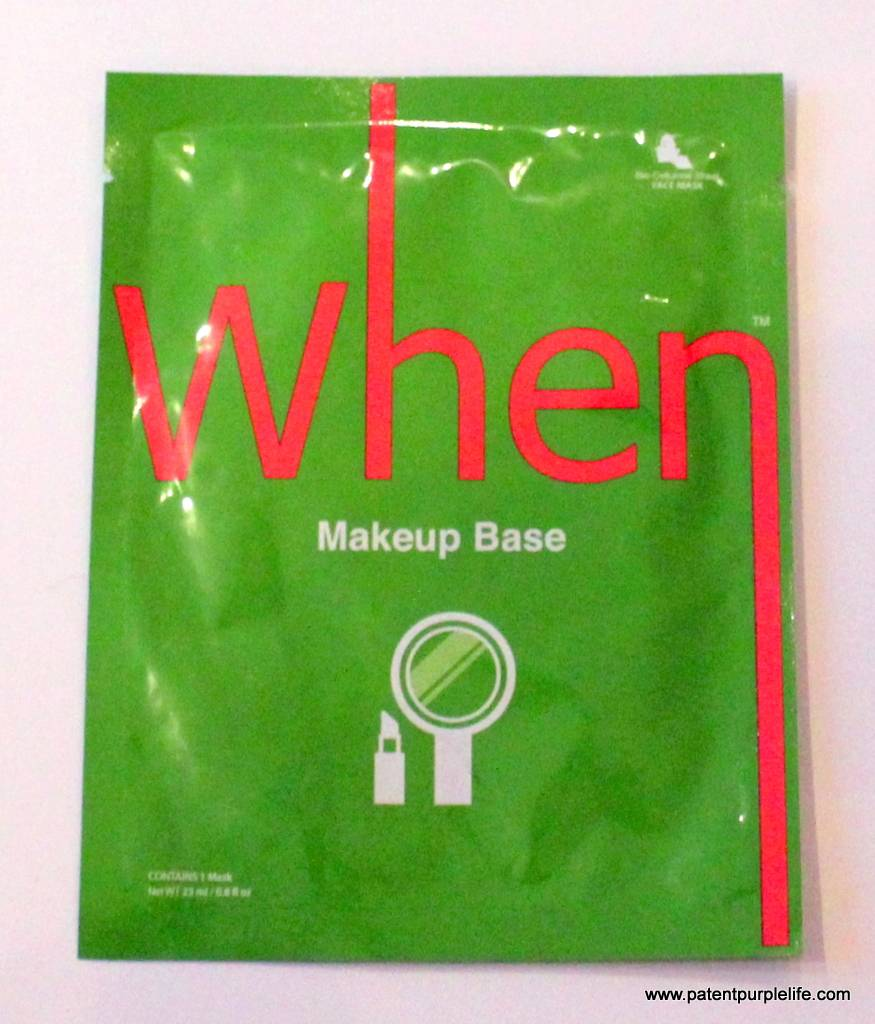 When Makeup Base Sheet Mask