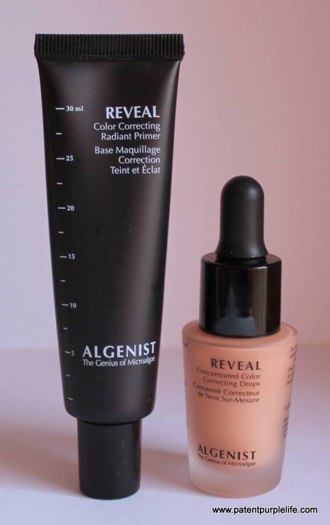 Algenist Reveal primer and colour colrrecting drops