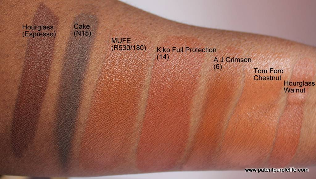 Stick Foundation Swatches WoC