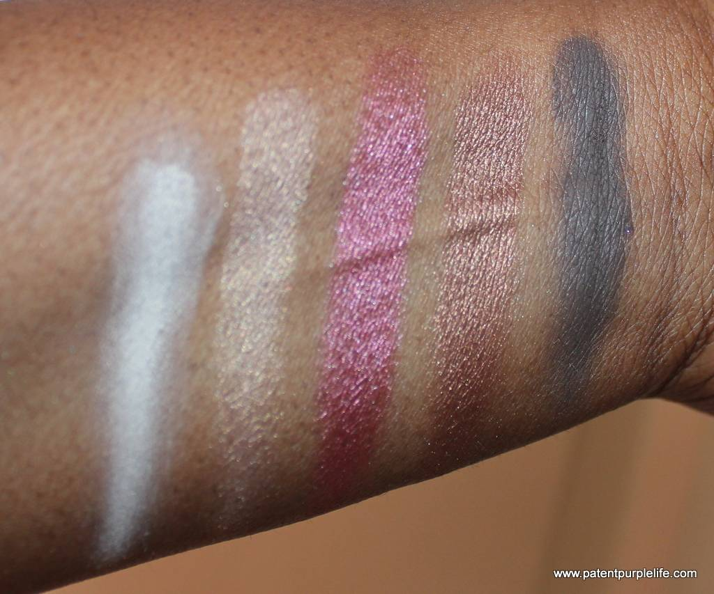 Zoeva Cocoablend Palette top row swatches WoC