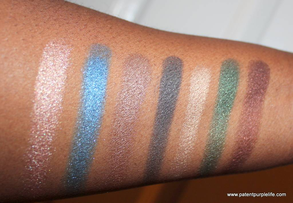 vbxesteelauder Modern Mercury and Eye Palette Swatches on Dark Skin