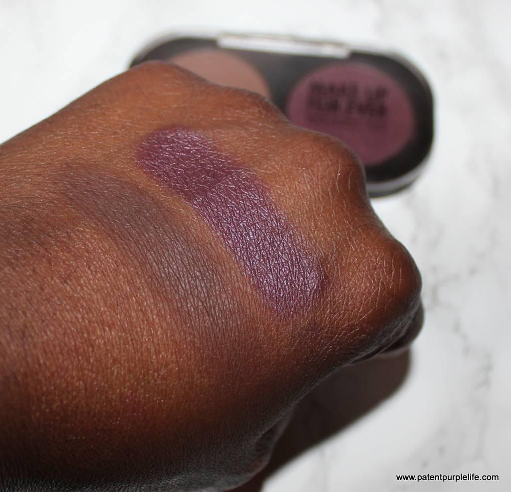 MUFE M630 and I634 eyeshadow swatches dark skin