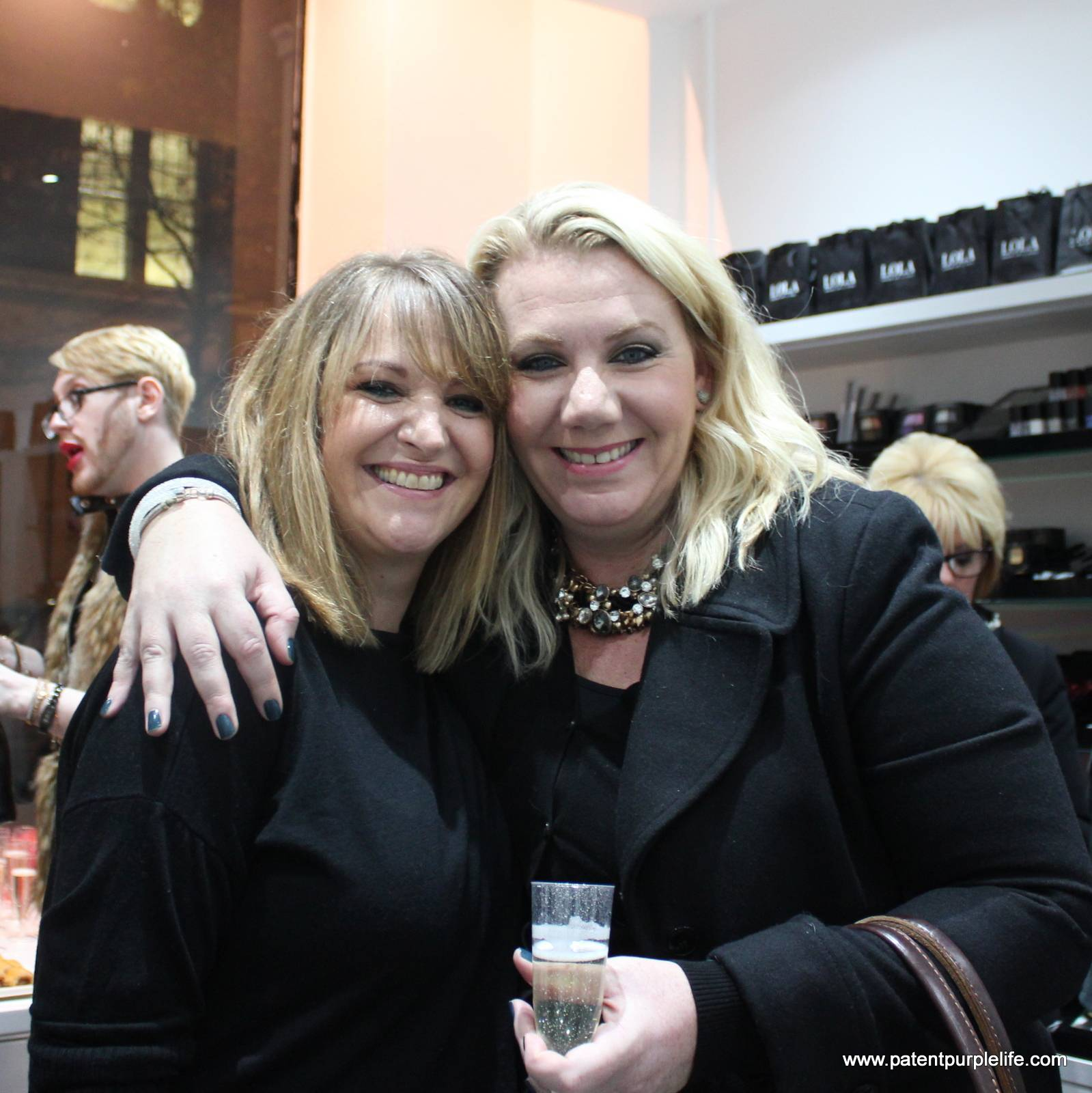 Louise Conner and Nina Westbury at Lola Makeup Boutique in Kings Cross