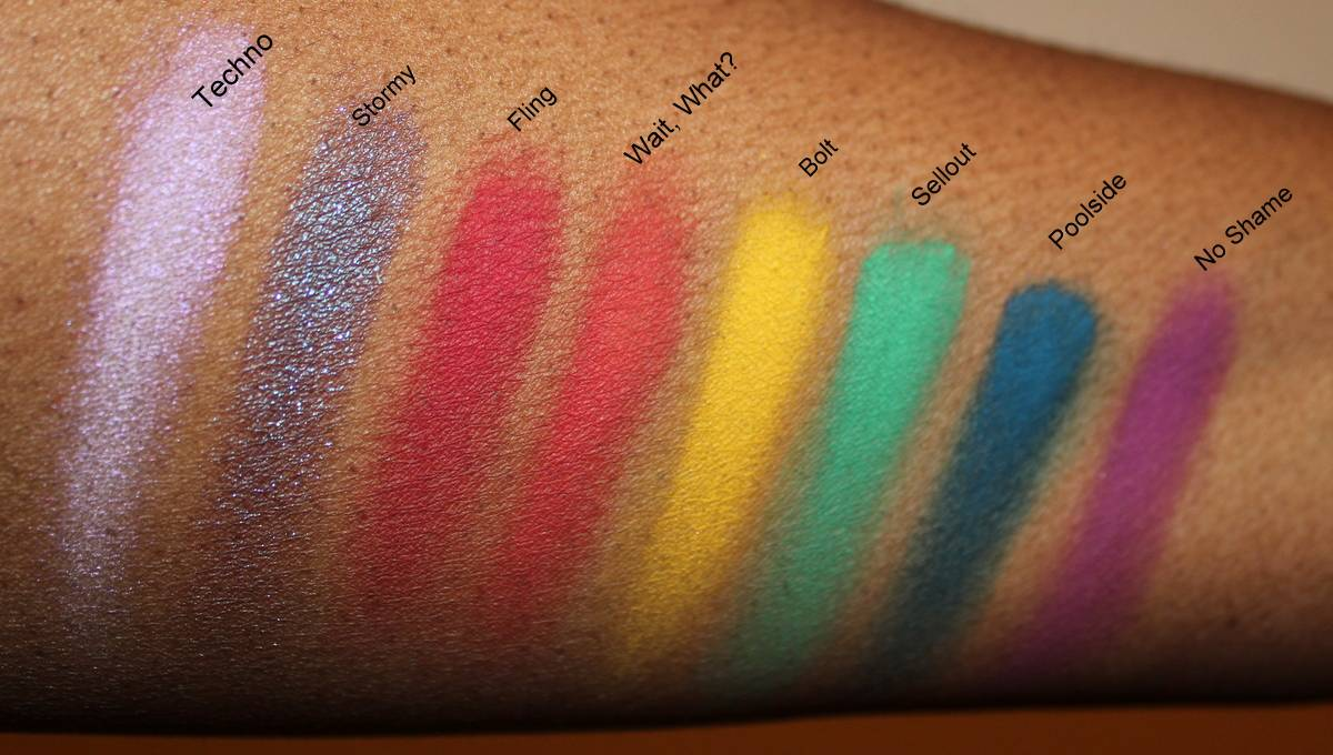 Covershot Bold Palette Swatches Dark Skin