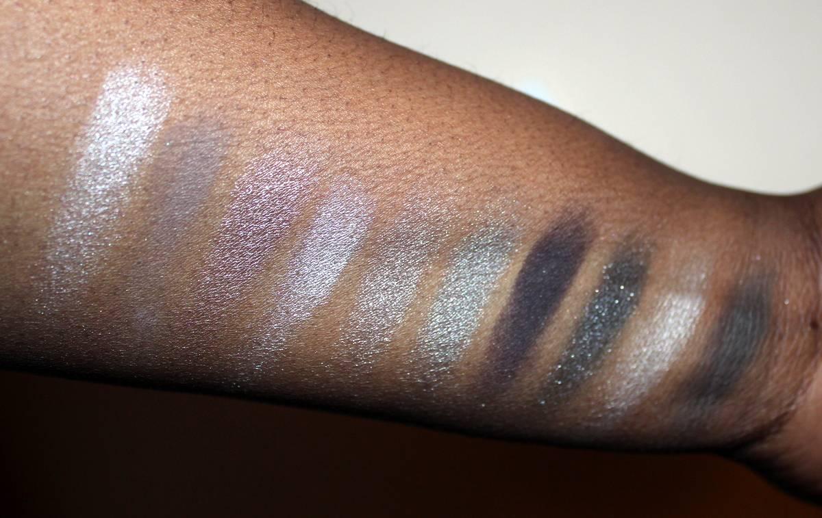 Beautypie Smoky Palette Dark Skin Swatches