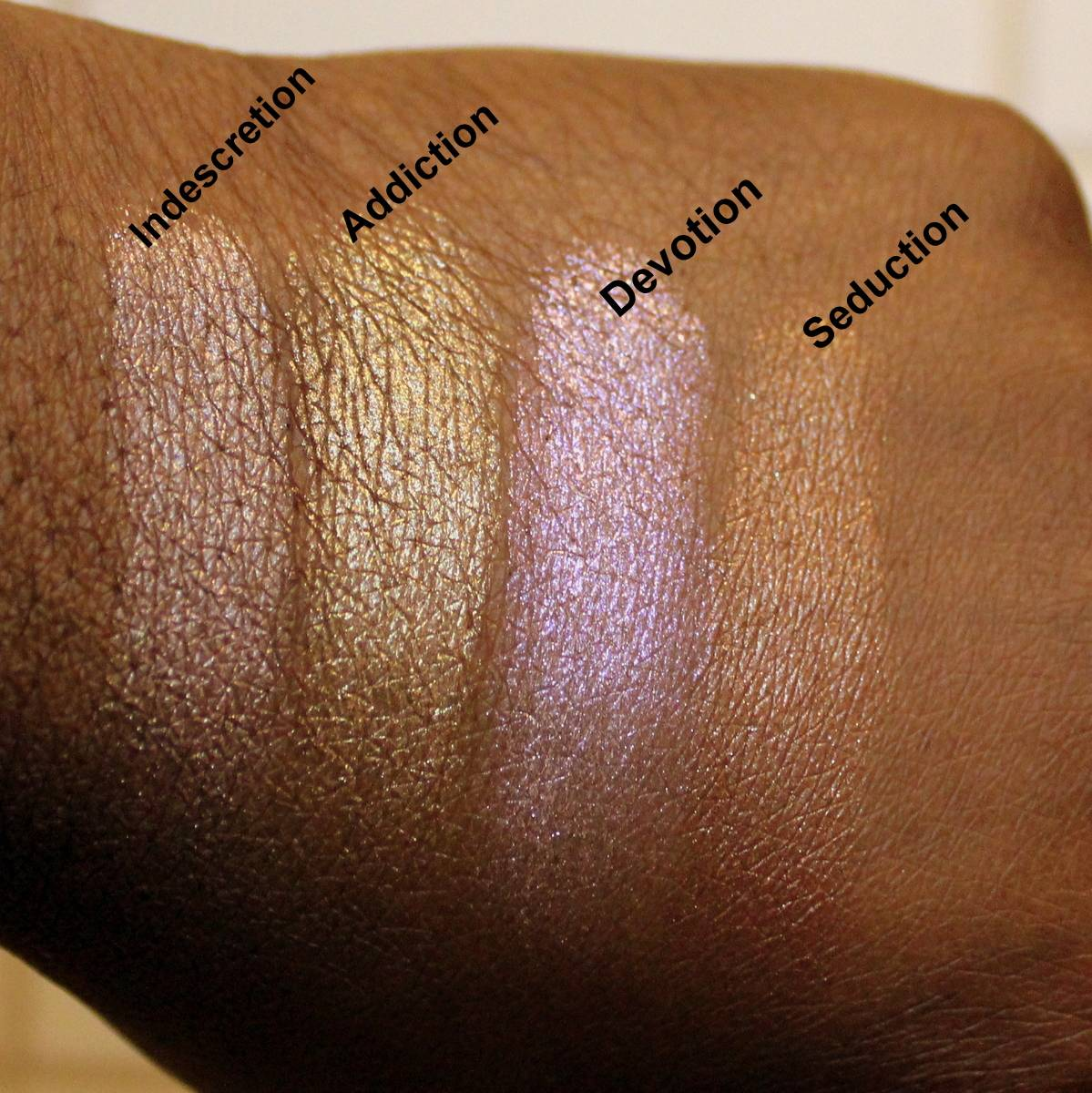 Laura Mercier Illuminators (Fall In Love Collection) Dark Skin Swatches