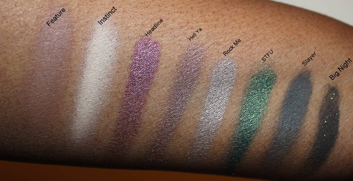 Smashbox Covershot Smoky Palette Dark Skin Swatches