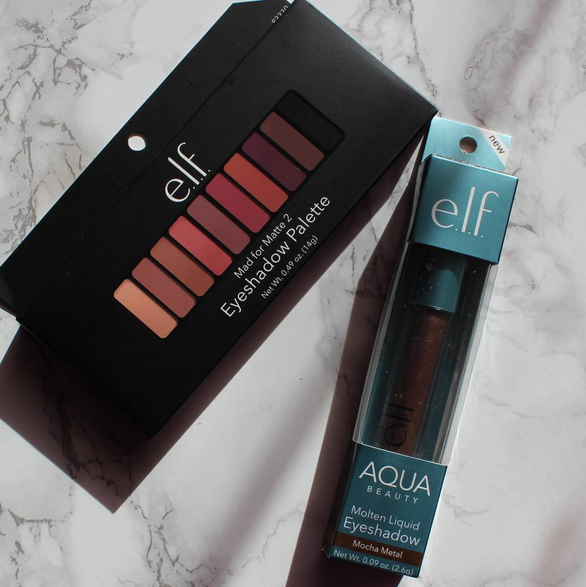 e.l.f cosmetics mad for matte 2 and aqua eyeshadow